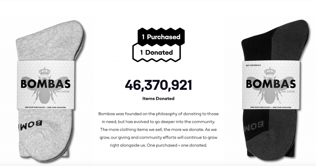bombas one purchased one donated