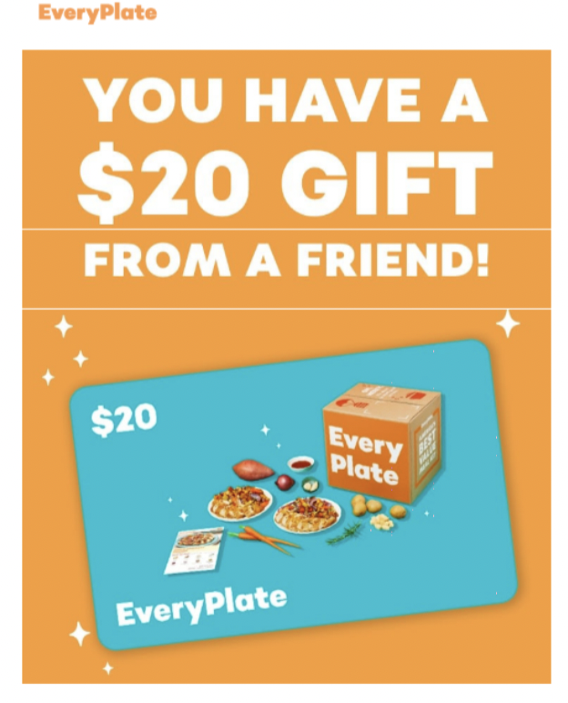 EveryPlate referral message 1