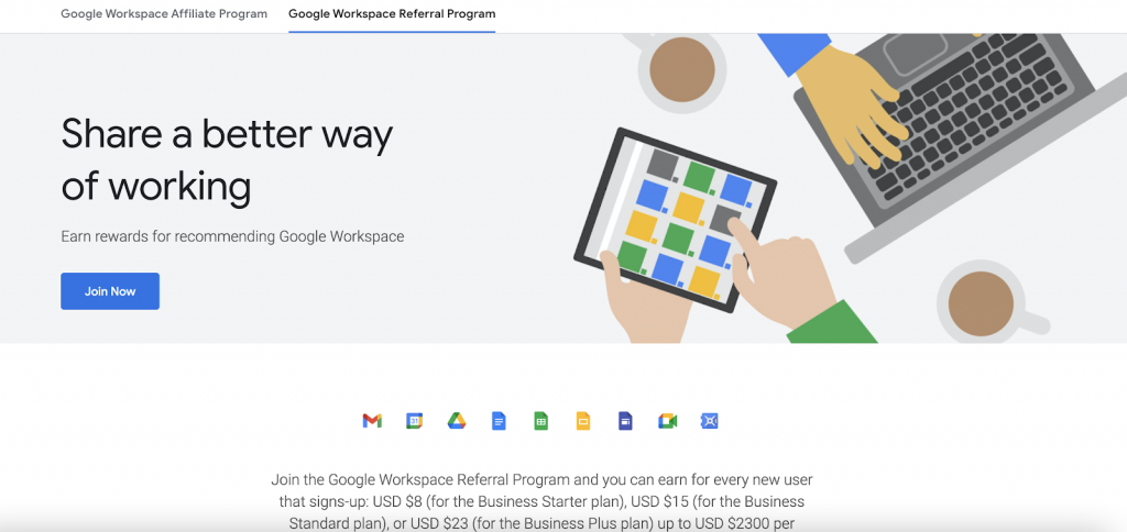 google workspace b2b referral program