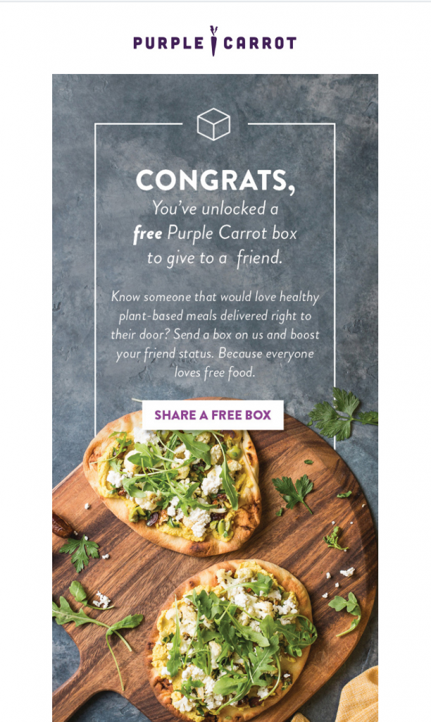 purple carrot referral email