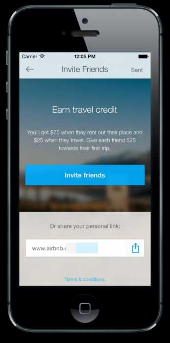 airbnb mobile referral program