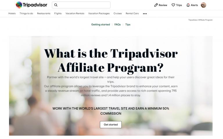 Tripadvisor affiliate program 1